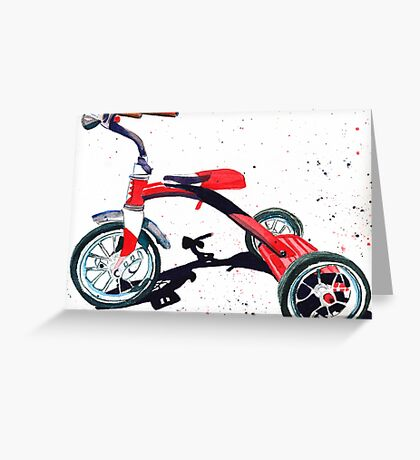 Radio Flyer Tricycle Greeting Card