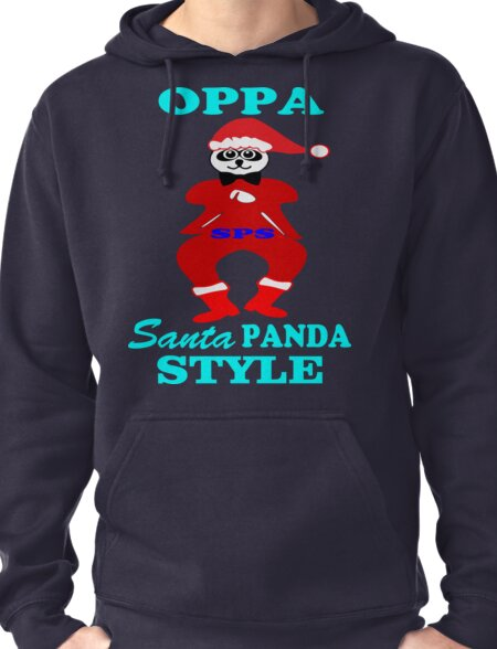 ★ټOppa Santa-Panda Style Hilarious Clothing & Stickersټ★ Pullover Hoodie