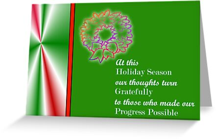 Christmas card for customers from business - wreathe by Cheryl Hall