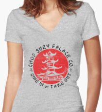 Chop Suey Palace Women's Fitted V-Neck T-Shirt