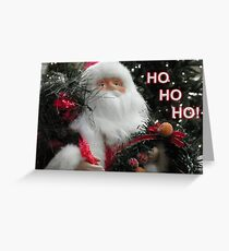 Ho Ho Ho Santa Greeting Card