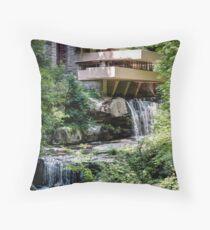 Falling Water, Kaufman House, Frank Lloyd Wright Throw Pillow