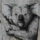 Tinted charcoal koala by gogston