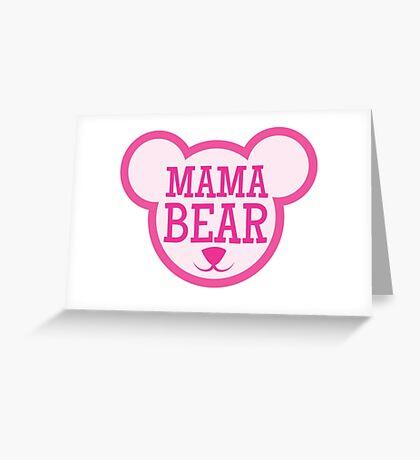 MAMA Bear in teddy bear shape Greeting Card