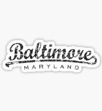 Baltimore Maryland Classic Vintage Black Sticker