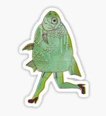 The Reverse Mermaid Sticker