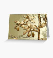 Gold Seasons Greetings Greeting Card