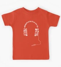 Headphones Collage Kinder T-Shirt