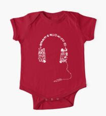 Headphones Collage Baby Body Kurzarm