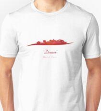 Denver skyline in red T-Shirt