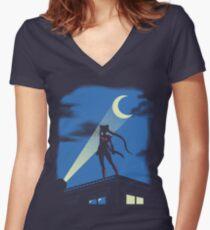 Camiseta entallada de cuello en V Moon Knight Rises