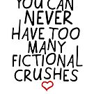 FICTIONAL CRUSHES by aimeereads