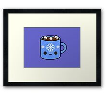 Mug of hot chocolate with cute marshmallows Framed Print