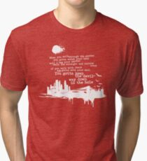 """Way Down In The Hole"""" - The Wire - Light Tri-blend T-Shirt"""