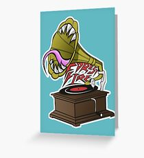 Gramaphone  Greeting Card