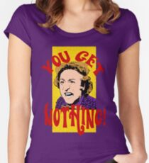 You Get Nothing! Willy Wonka Women's Fitted Scoop T-Shirt