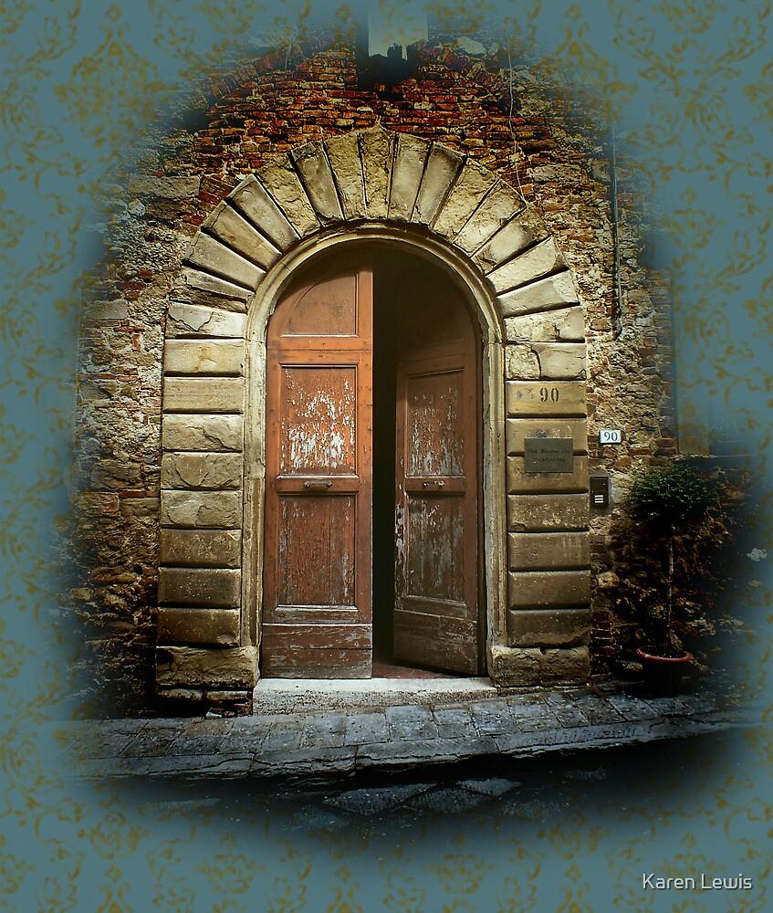 Tuscan Door by Karen Lewis