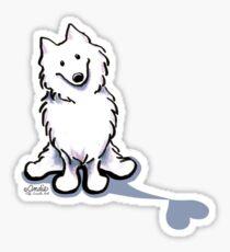 Samoyed Love Shadow Sticker