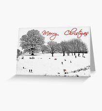 Christmas Sledging Greeting Card