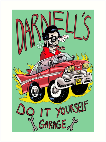 Darnells do it yourself garage art prints by donramos redbubble darnells do it yourself garage by donramos solutioingenieria Image collections