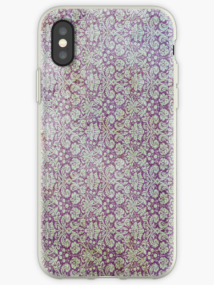 Vintage Light Faded Purple Grunge Wallpaper Ipad Iphone Case Cover Iphone Case By David Evans