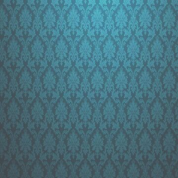 Dark and Light blue vintage glow wallpaper iphone ipad case cover by dai1976