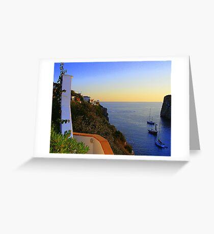 A Menorcan Sunset Greeting Card