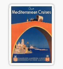 Vintage poster - Mediterranean Cruises Sticker