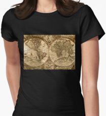 Ancient Map Women's Fitted T-Shirt
