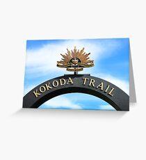 Kokoda Trail Arch Greeting Card