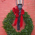 Merry Christmas Wreath and lantern card by Penny Fawver