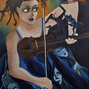 Santa Caterina and her Violetta by zoequixote
