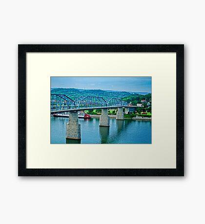 Walnut Street Bridge Framed Print