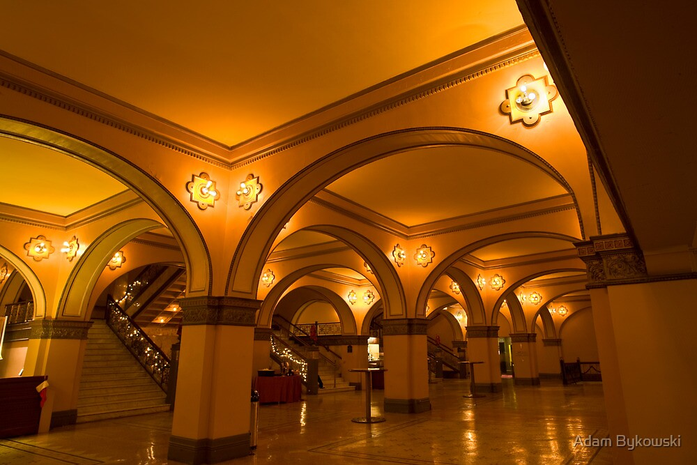Auditorium Theatre Lobby by Adam Bykowski