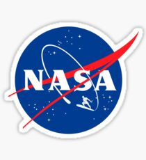 NASA Surfer Sticker