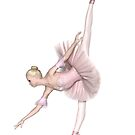 Ballerina in Pink Tutu - Arabesque Penché by algoldesigns