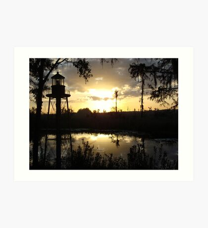 Econfina Creek Sunset, December 1, 2012 Art Print