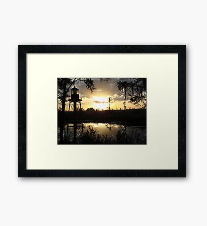Econfina Creek Sunset, December 1, 2012 Framed Print
