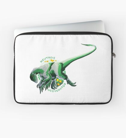 Neutrois Neovenator (with text)  Laptop Sleeve