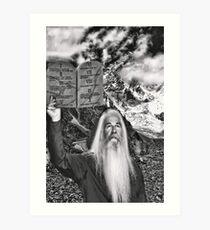 ☝ ☞ THE TEN COMMANDMENTS ON THE MOUNT ☝ ☞ Art Print