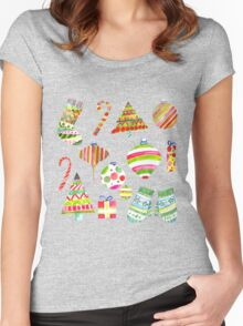 A Colorful Christmas Women's Fitted Scoop T-Shirt