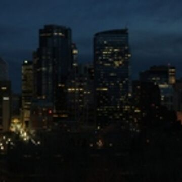 Calgary Night Skyline by bookermorgan