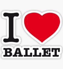 I ♥ BALLET Sticker