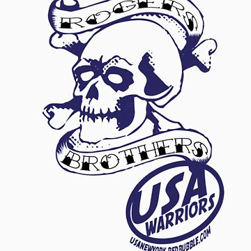 usa warriors skull by rogers bros by usala