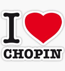 I ♥ CHOPIN Sticker