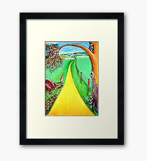 The road to the future Framed Print