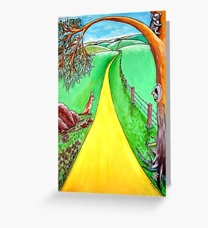 The road to the future Greeting Card