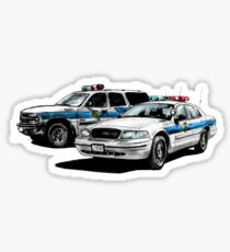 American Police Cars Sticker
