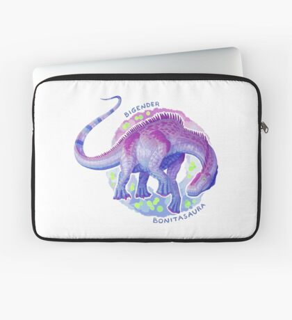 Bigender Bonitasaura (with text) Laptop Sleeve