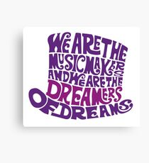 Willy Wonka Hat Dreams - Purple Canvas Print